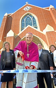 Ribbon Cutting for new Immaculate Conception School.